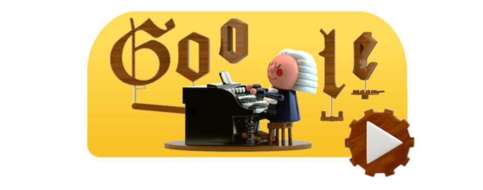 Johann Sebastian Bach - jeu doodle google populaire