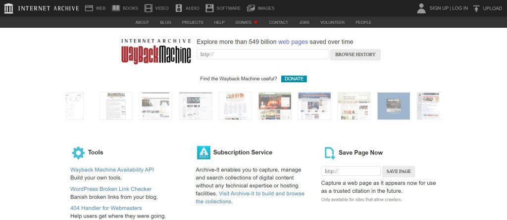 Récupération d'un site internet à partir de l'archive web