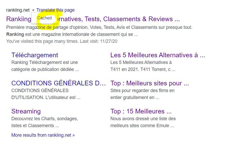 Restaurer un site avec le cache de Google