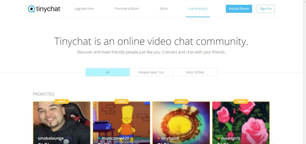 Tinychat - Live random video chat rooms