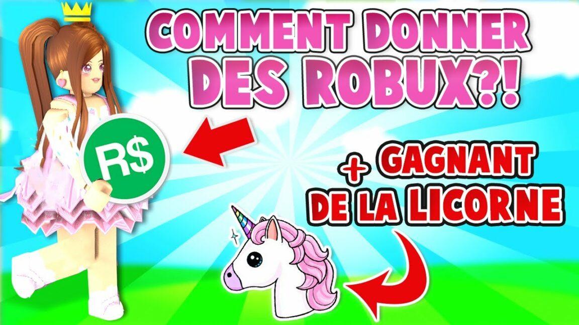 Comment donner Robux ?